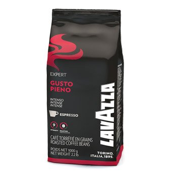Lavazza Vending Espresso Gusto Pieno - 1kg ganze Kaffee-Bohne - Plantagen Dunkle Schokolade