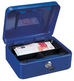 Rottner Geldkassette Traun 2 mit Tragegriff blau T02350