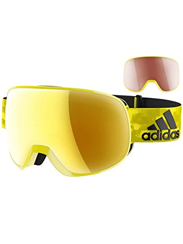 7cf9ae2e96 Occhiali da Neve da Uomo Adidas Sport Eyewear Progressor Pro Pack Bright  Yellow Shiny Goggle,