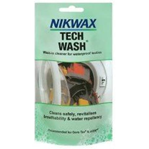 Nikwax Tech Wash Pouch 100ML Waterproof Clothing Tents Rucksacks Sleeping Bag by Nikwax