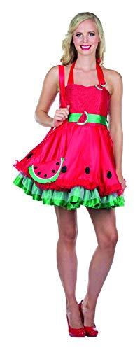 Rubie's Damen Kostüm Sexy Melone Malina Gr. 40 Kleid Rot Früchtchen Fasching Karneval