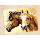Vervaco PN-0144834 Knüpfteppich Feurige Pferde