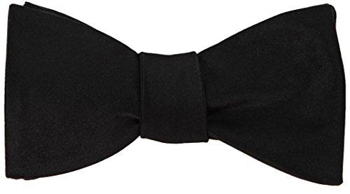 100% Seidenfliege Seide Schwarze Fliege, Selbstbindender Stil, Premium Hochzeitskollektion 6.3 cm Geschenkbox