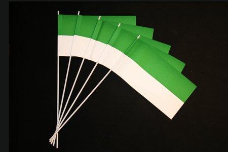 Papierfähnchen: grün-weiß 50er Packung