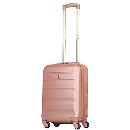3107hdSzKnL. SS416  - Aerolite - Súper liviano, 3 piezas, equipaje de viaje rígido, maleta de viaje, con 4 ruedas (3 piezas, oro rosa)