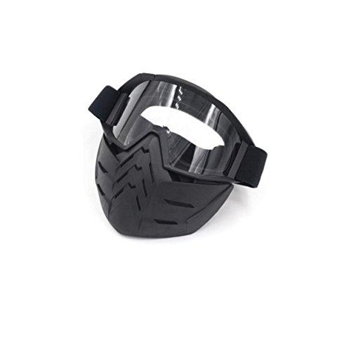 MEI Brille Skibrille Goggles Motocross-Fahrbrille Goggles Produkt-Größe: 7.6in * 6.7in,D
