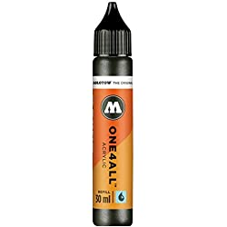 Molotow mo693223 Refill one4all, recarga para marcador permanente 30 ml, 1 pieza, color negro metálico