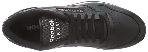 Reebok Classic Leather Pop SC, Scarpe da Corsa Uomo, Bianco, Eu Nero (Black/Shark/White)