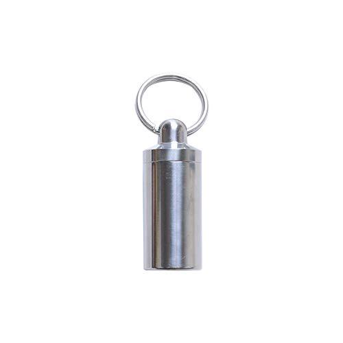 Mini-Pille-Kasten Wasserdicht Titan Medizin-Pille-Kasten-Kasten-Flaschen Behälter mit separaten Doppel Schichten 1 Gitter Typ Silber 1pc S