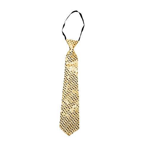 Party-Factory-Ladenburg Pailletten Krawatte Glitzer Damen & Herren Designer 12 Farben (Gold)