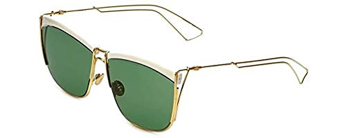 Dior CHRISTIAN 0 WHTE YELLGLD FRAME WITH GREEN LENS