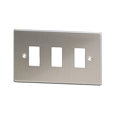 Varilight XDSPG3 3-Gang PowerGrid Faceplate