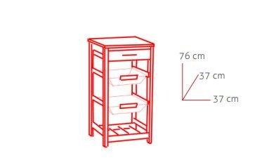 kit closet 7040028012 k chenwagen mit k rben und flaschenhalter rostfreier stahl. Black Bedroom Furniture Sets. Home Design Ideas