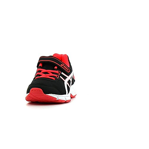 Asics Pre Galaxy 9 Ps, Chaussures de Course pour Entraînement sur Route Mixte Enfant Onyx / White / Diva Pink