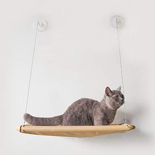 PETSUPPLY0 Katze-Fensterstangen-Hängematten-Bett-sonniges Sitzliege-Kissen mit Saugnäpfen -