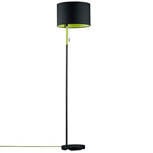 LED 7 Watt Stehlampe Leuchte schwarz grün Esszimmer Licht Zugschalter Metall EEK A+