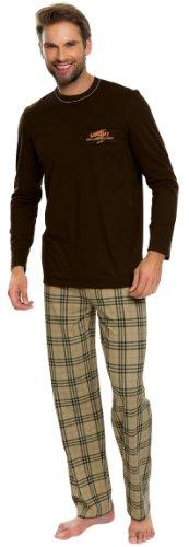 Italian Fashion IF Herren Pyjama Adam 0223 Braun