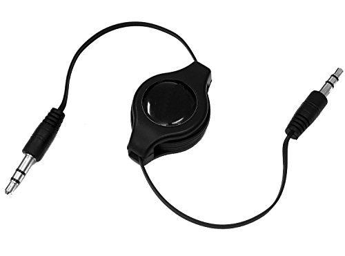 tomaxx Adapter für Samsung Galaxy S9 / Galaxy S9 Plus, Samsung Galaxy A5 (2017) Einziehbares 3,5 mm AV Audio Kabel - Autoradio Stereoanlage Hi-Fi, Box, AUX Auto Radio (Galaxy - Av-adapter-samsung)