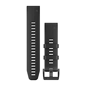 Garmin Ersatzarmband QuickFit 26 Watch Bands, Black Silicone