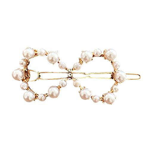 Haarnadeln/Dorical Damen Haarspange Süße mit Perlen Haarklammer Haarspiralen Braut Hochzeit Haarschmuck Accessoires/Geburtstags Geschenk Haarschmuck für Mama Frauen Mädchen(C)