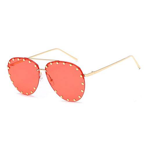 ANSKT Brillenmode Sonnenbrillen Sonnenfrauen Polarized Sunglasses-Red