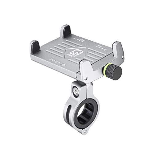 Jamicy® Handyhalterung Fahrrad, 360° Drehbarer Universal Motorrad Handyhalter, wasserdicht Aluminiumlegierung Handyhalter für iPhone, Android-Smartphone von 4,5 Zoll bis 6,2 Zoll (Silber)