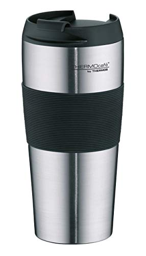 ThermoCafé by THERMOS 4056.205.040 Coffee To Go Thermobecher ThermoPro, Edelstahl mattiert 0,4 l, BPA-Free -