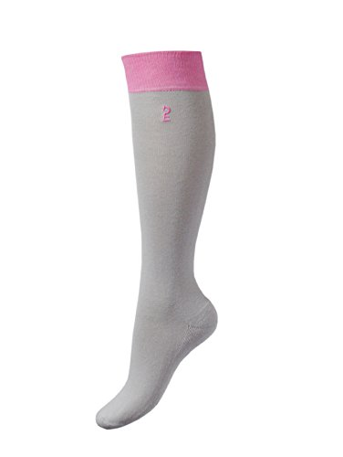 Esperado Kniestrumpf Modell Flap in grau-rosa, Größe:39-42