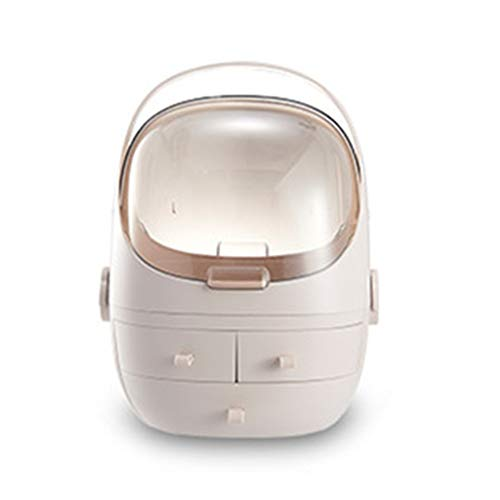 Stockage différents types de cosmétiques grande capacité de stockage de maquillage organisateur idéal pour salle de bain,Brown