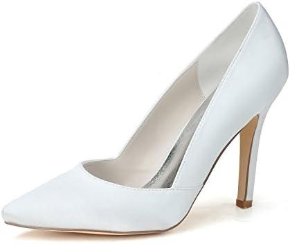 Qingchunhuangtang@ Women'sGlitter Magnífica Boda Zapatos de Tacón Zapatos de Boda de Mujeres como Satén de Seda...