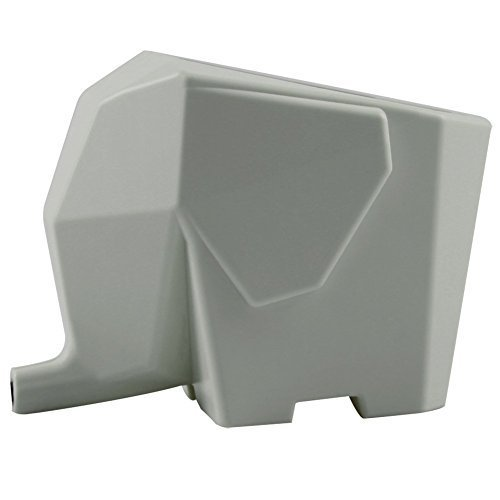 DASUKE Cute Elefant Home Kitchen Abtropfbehälter für Besteck, Bad Kosmetik Dish Stift-Bürste Aufbewahrung Halter Rack Organizer Trockner Tablett grau Bad Dish