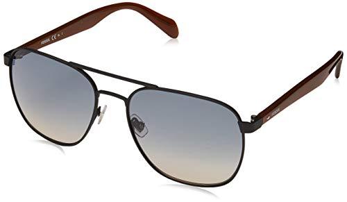 Fossil fos 2081/s occhiali da sole, mtt black, 57 uomo