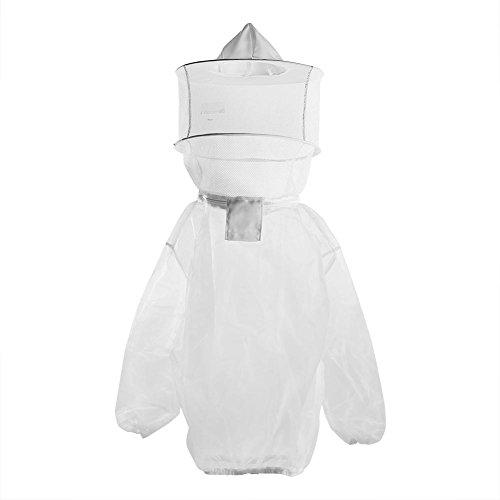 prettygood7 Imker-Kleidung, Nylon, atmungsaktiv, Bienenenschutz, für den Körper, mit Schleier -