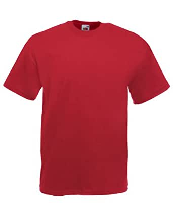 Fruit Of The Loom Valueweight T-Shirt Colour=Brick Red Size=S