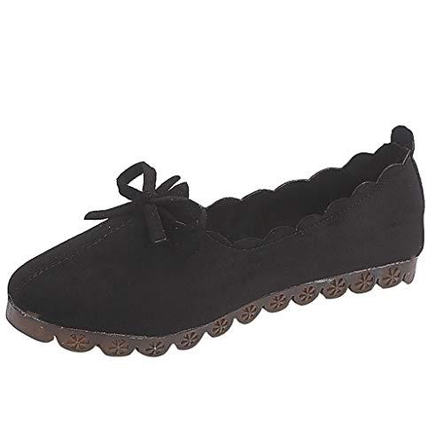 Eaylis Schuhe Ladies 'Lace Koreanischen Flachen Boden Kleine Frische Bogen Erbsen Schuhe - Bogen Kissen Boot