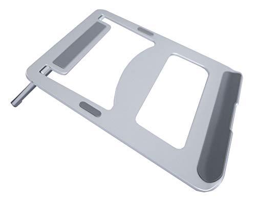 Bramley Power Laptop-Ständer für Apple MacBook Pro/Air und alle Laptops, Aluminium, silberfarben/Grau / Schwarz (Apple Laptop Schwarz)