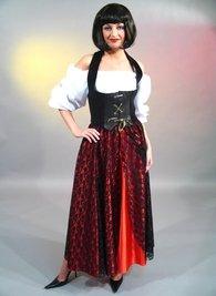 gipsy - Rock Kostüm Zigeunerin Piratin gr m (Gipsy Kostüm)