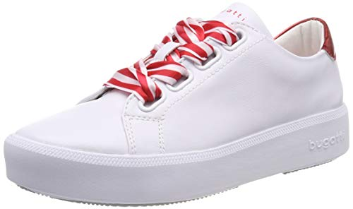 bugatti Damen 431407175950 Sneaker, Mehrfarbig (White/Red 2030), 39 EU