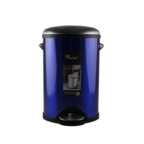 LC-Abfalleimer Trash Fuß-Typ Haushalt Badezimmer kreative Wohnzimmer Küche ruhig nach unten (Farbe : Blau)