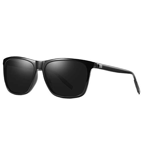 Damen Herren Aluminium Magnesium Radfahren Brille Outdoor Polarisierte Sonnenbrille Persönlichkeit Ultra Leicht Schutz Vor UV-Strahlen Anti Blendung,D
