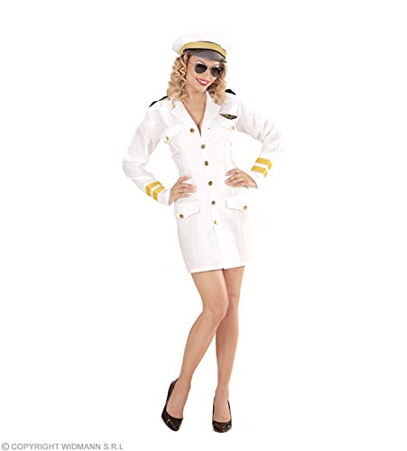Deutscher Kostüm Damen Offizier - Widmann - Damen-Kapitäns-Kostüm, Farbe: Weiß, Größe: S, WDM06861