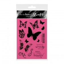 Hunkydory-per l' amore di francobolli-spread your Wings