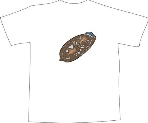 T-Shirt E614 Schönes T-Shirt mit farbigem Brustaufdruck - Logo / Grafik - Comic Design - schöne große Seeschnecke im Meer Schwarz