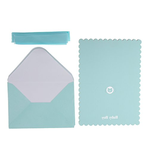 Sharplace 12er / Set (inkl. Umschläge): Einladungskarten Geburtstagseinladungen für Kinder, Mädchen, Jungen - Blau