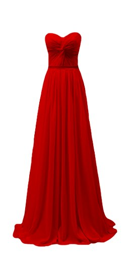 Bridal_Mall - Robe - Trapèze - Sans Manche - Femme red