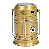 ZZ Zonex Solar Emergency Light Lantern, USB Mobile Charging Point, Rechargeable Night Light Travel Camping Lantern - Colour Will Be As Per Stock