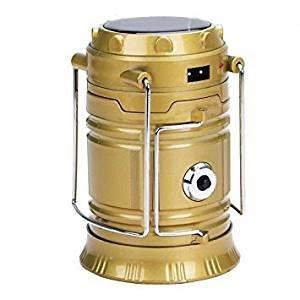 ZZ ZONEX Solar Emergency Light Lantern + USB Mobile Charging Point + Rechargeable Night Light Travel Camping Lantern ( Black,...