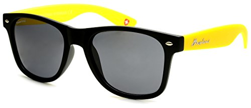 Montana MP40, Gafas de Sol Unisex Adulto, Multicolor (Black + Yellow + Smoke Lenses), Talla única