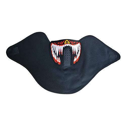 Sel-More Halloween-Kostüm-Party-Maske, Panel, LED, EL-Maske mit Sound Active für Tanz, Party, Festival, Herren, FM-MA-04