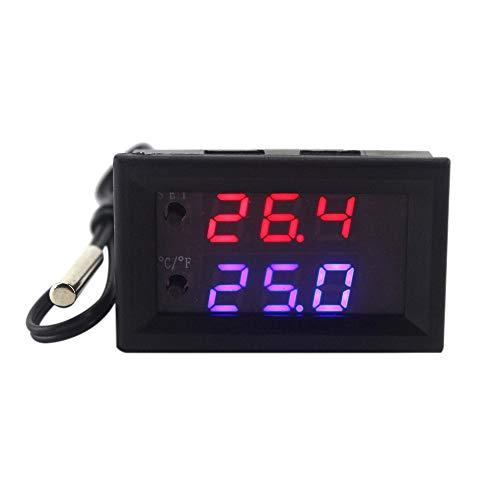 KKmoon DC 12V Programmierbare LED Digital Thermostat Regler Mini Mikrocomputer Steuerung Thermometer Einstellbare Temperaturregler Thermoschalter Modul